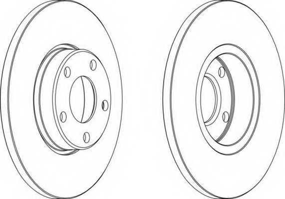Тормозной диск FERODO DDF324 - изображение