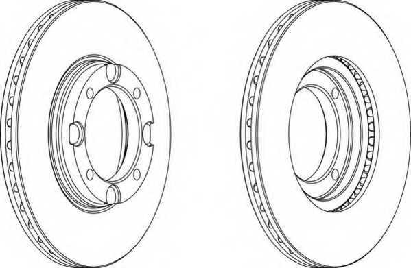Тормозной диск FERODO DDF389 - изображение