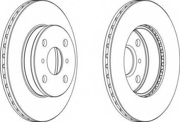 Тормозной диск FERODO DDF413 - изображение