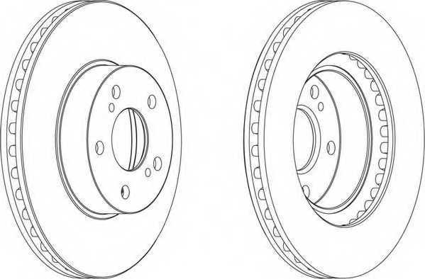 Тормозной диск FERODO DDF485 - изображение 1