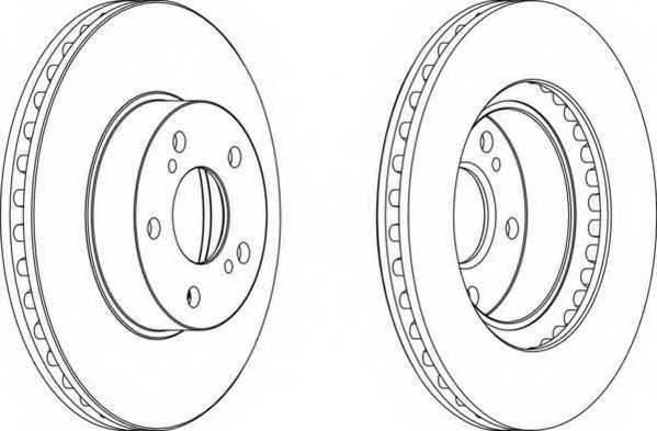 Тормозной диск FERODO DDF485 - изображение