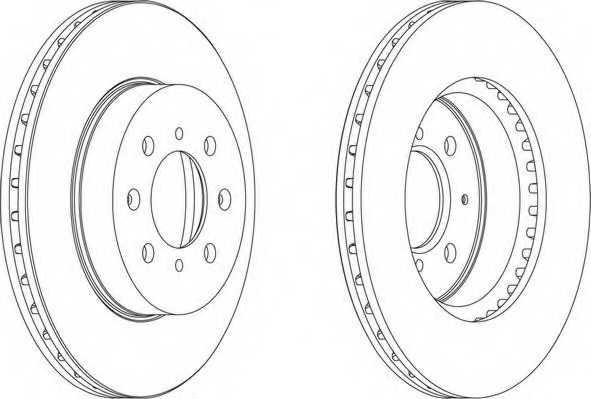 Тормозной диск FERODO DDF492 - изображение 1