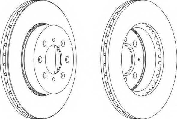 Тормозной диск FERODO DDF492 - изображение