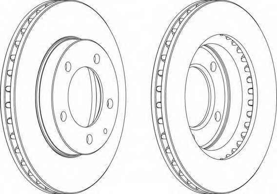 Тормозной диск FERODO DDF496 - изображение 1