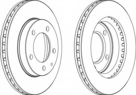Тормозной диск FERODO DDF496 - изображение