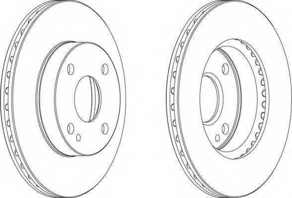 Тормозной диск FERODO DDF497 - изображение 1