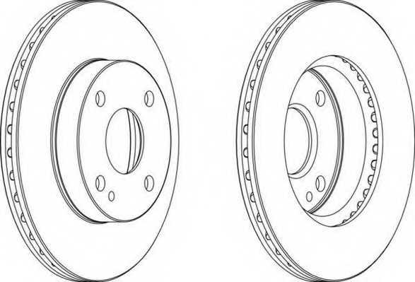 Тормозной диск FERODO DDF497 - изображение