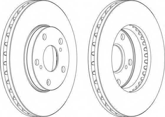Тормозной диск FERODO DDF501 - изображение 1