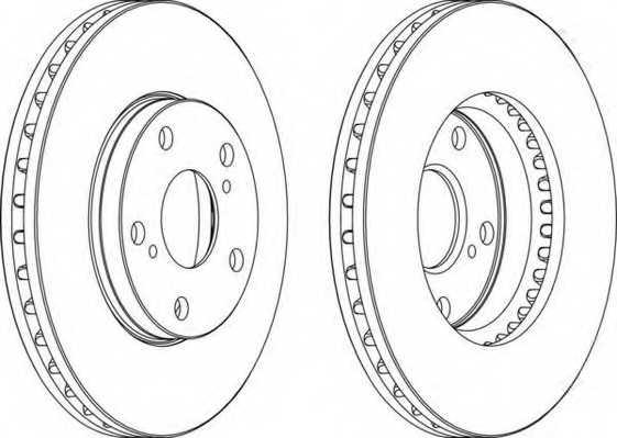 Тормозной диск FERODO DDF501 - изображение