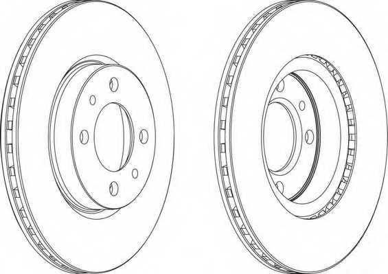 Тормозной диск FERODO DDF521 - изображение 1
