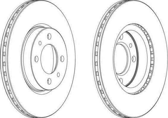 Тормозной диск FERODO DDF521 - изображение