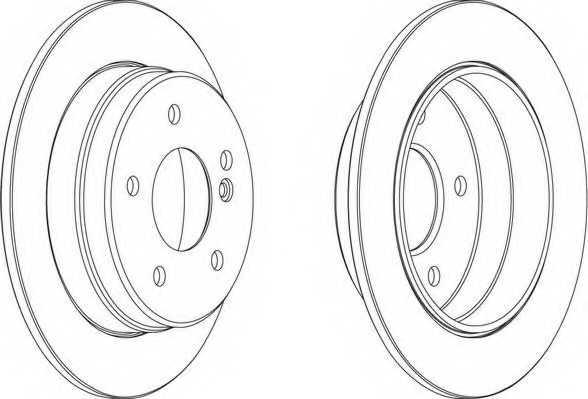 Тормозной диск FERODO DDF539 - изображение 1