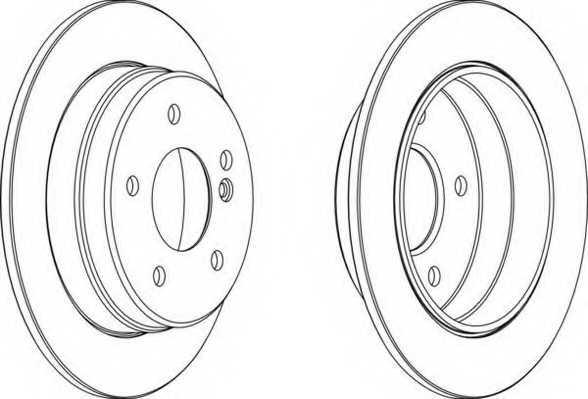 Тормозной диск FERODO DDF539 - изображение