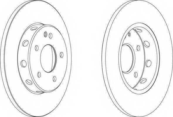 Тормозной диск FERODO DDF540 - изображение 1