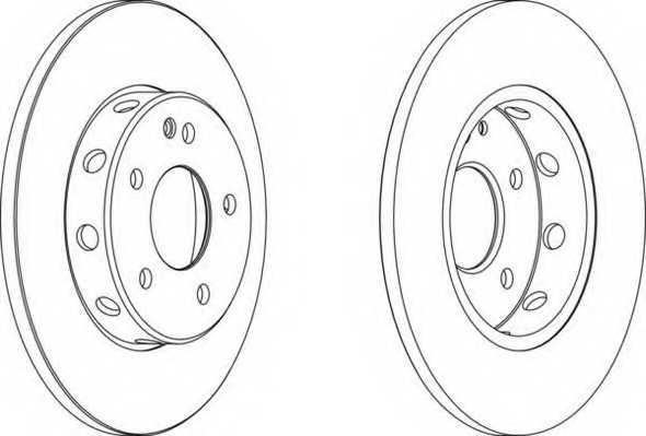 Тормозной диск FERODO DDF540 - изображение