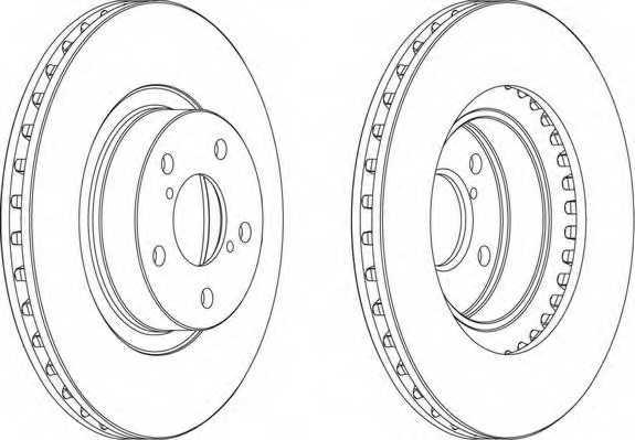 Тормозной диск FERODO DDF679 - изображение 1