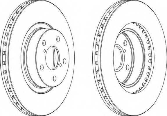 Тормозной диск FERODO DDF679 - изображение