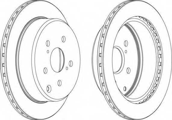 Тормозной диск FERODO DDF687 - изображение 1