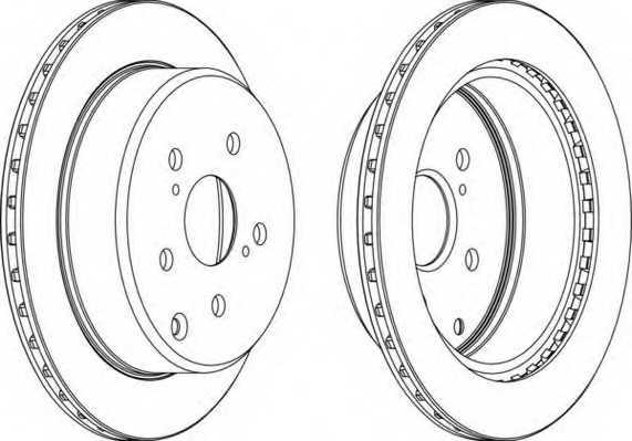 Тормозной диск FERODO DDF687 - изображение