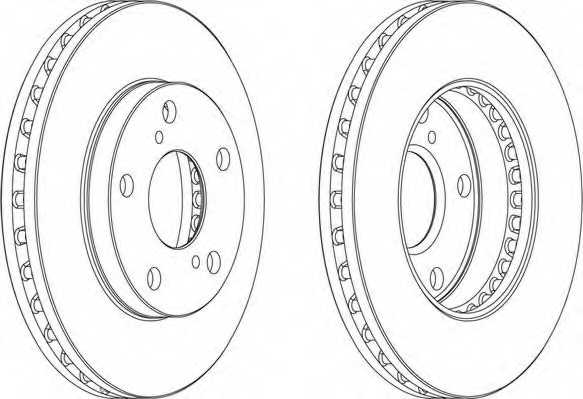 Тормозной диск FERODO DDF702 - изображение 1