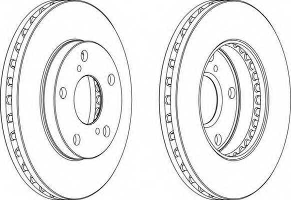 Тормозной диск FERODO DDF702 - изображение