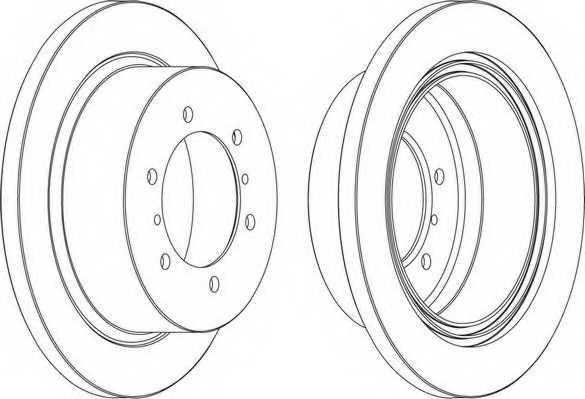 Тормозной диск FERODO DDF715 - изображение 1