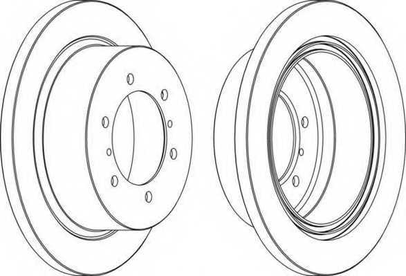 Тормозной диск FERODO DDF715 - изображение