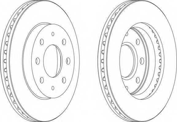 Тормозной диск FERODO DDF741 - изображение 1