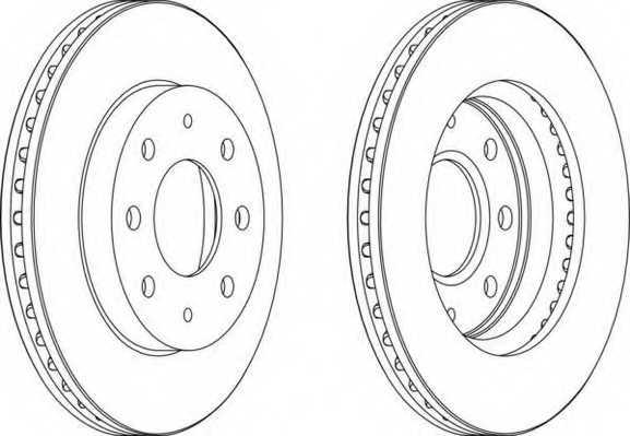 Тормозной диск FERODO DDF741 - изображение