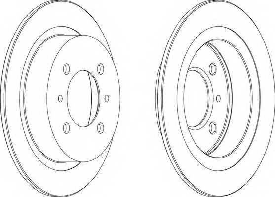 Тормозной диск FERODO DDF790 - изображение 1