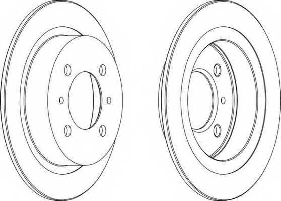 Тормозной диск FERODO DDF790 - изображение