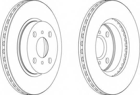 Тормозной диск FERODO DDF794 - изображение 1