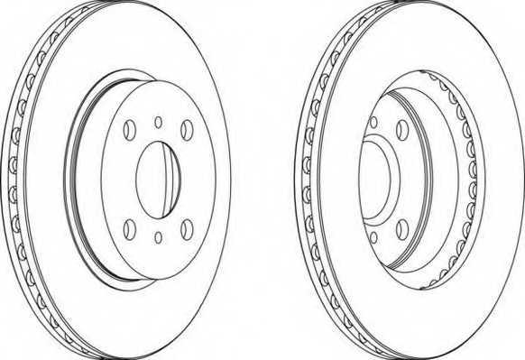 Тормозной диск FERODO DDF794 - изображение