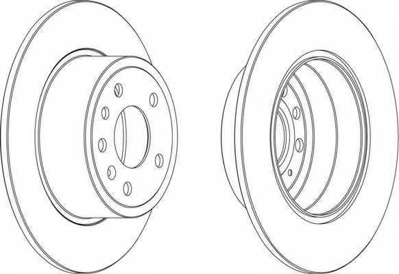 Тормозной диск FERODO DDF811 - изображение 1