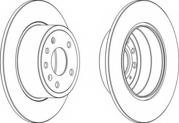 Тормозной диск FERODO DDF811 - изображение
