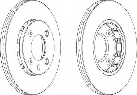 Тормозной диск FERODO DDF812 - изображение 1