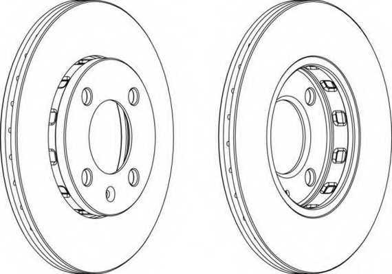 Тормозной диск FERODO DDF812 - изображение