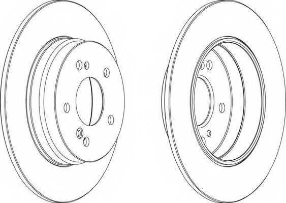Тормозной диск FERODO DDF819 - изображение 1