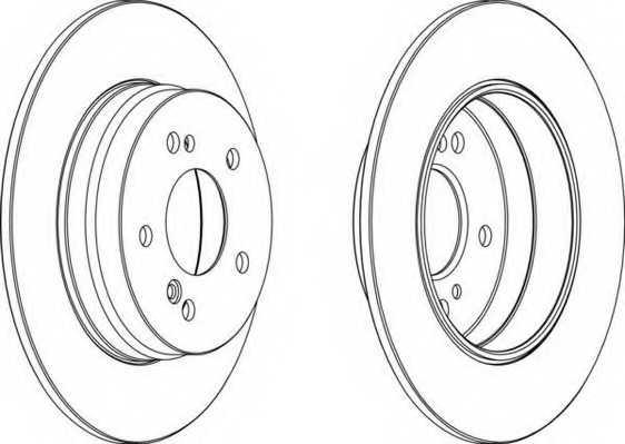 Тормозной диск FERODO DDF819 - изображение
