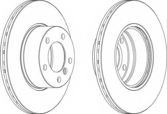 Тормозной диск FERODO DDF834 - изображение 1