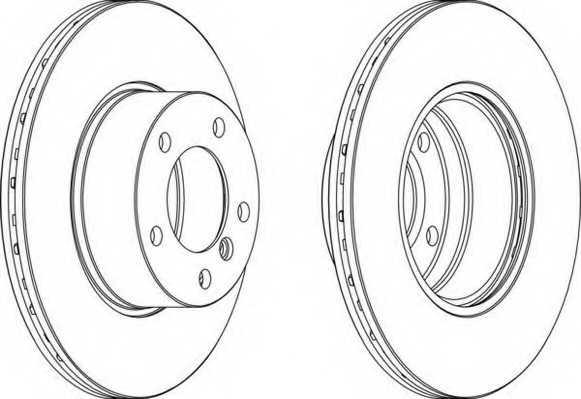 Тормозной диск FERODO DDF834 - изображение