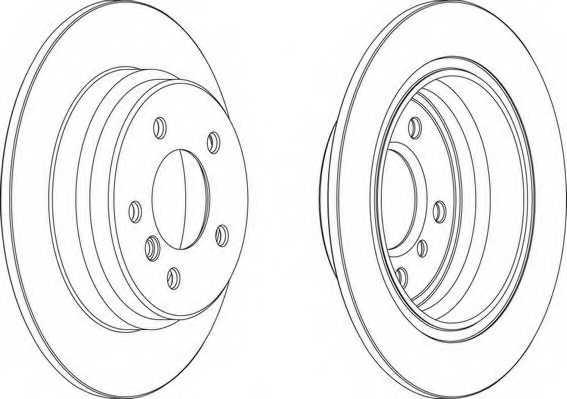 Тормозной диск FERODO DDF835 - изображение 1