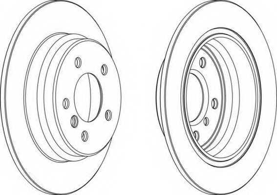 Тормозной диск FERODO DDF835 - изображение