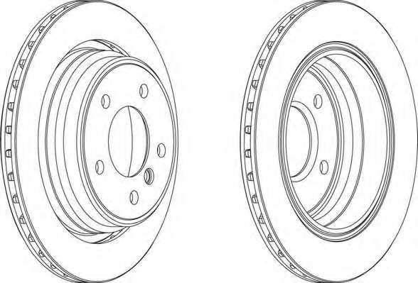 Тормозной диск FERODO DDF836 - изображение 1