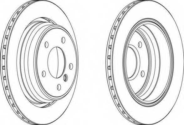 Тормозной диск FERODO DDF836 - изображение