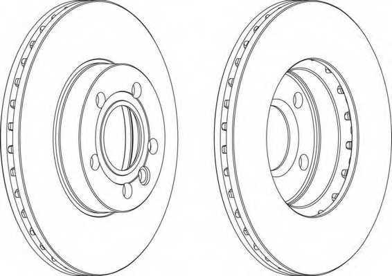 Тормозной диск FERODO DDF846 - изображение 1