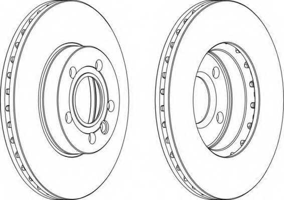 Тормозной диск FERODO DDF846 - изображение