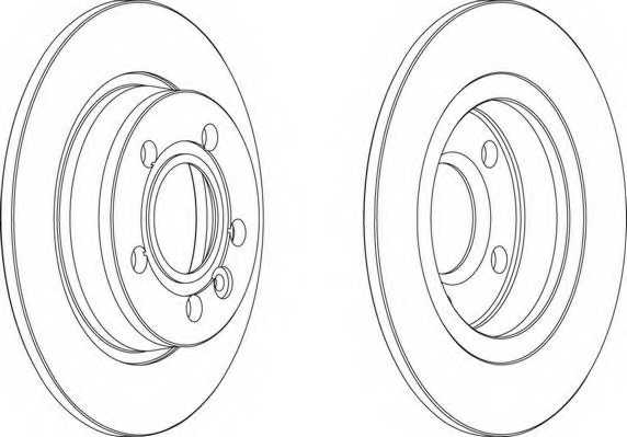 Тормозной диск FERODO DDF847 - изображение 1