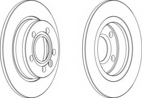 Тормозной диск FERODO DDF847 - изображение