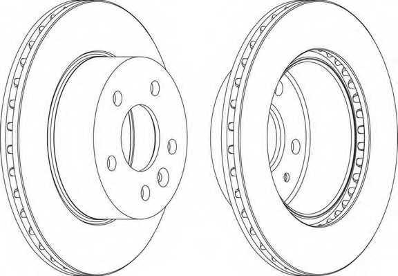 Тормозной диск FERODO DDF860 - изображение 1